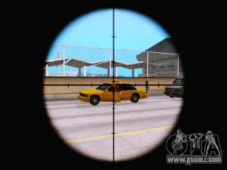 The new rifle sight for GTA San Andreas third screenshot