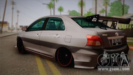 Toyota Vios Slalom Edition for GTA San Andreas left view