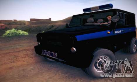 Uaz Hunter Police for GTA San Andreas left view