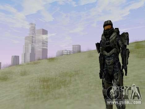 Master Chief for GTA San Andreas seventh screenshot