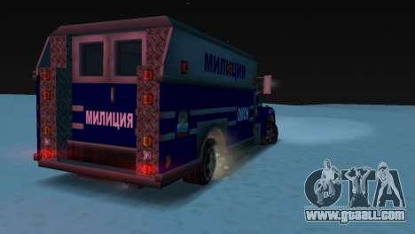 Enforcer with the texture of AUMONT for GTA Vice City back left view