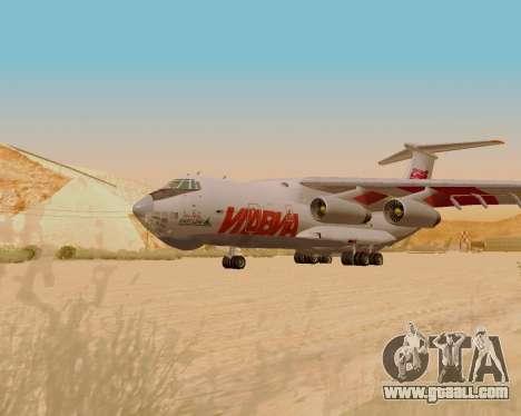Il-76td IlAvia for GTA San Andreas back left view