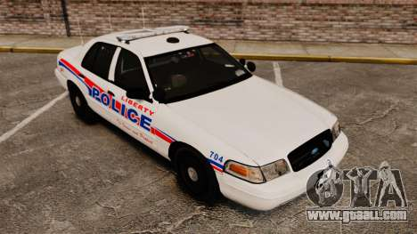 Ford Crown Victoria 2008 LCPD Patrol [ELS] for GTA 4 back view