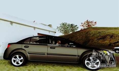 Kia Rio II 2009 for GTA San Andreas back view