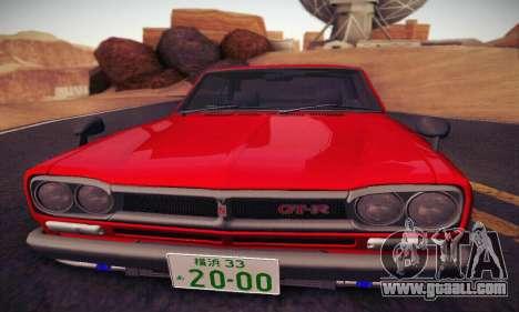 Nissan Skyline 2000GTR 1967 Hellaflush for GTA San Andreas side view