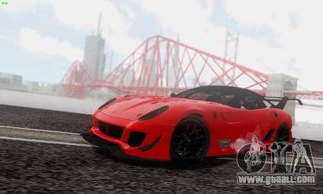 Ferrari 599XX Evolution for GTA San Andreas side view