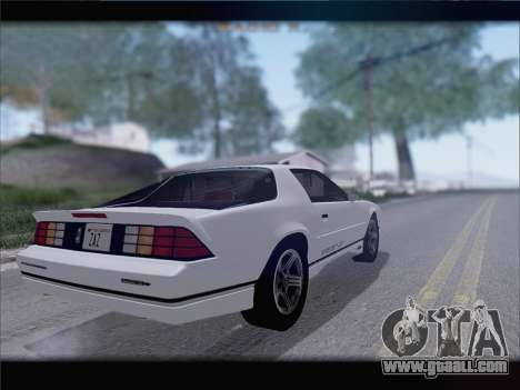 Chevrolet Camaro IROC-Z 1990 for GTA San Andreas