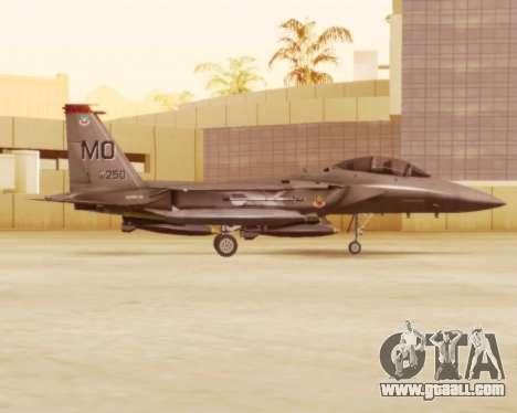 F-15E Strike Eagle for GTA San Andreas back left view
