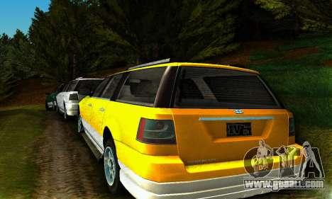 Landstalker GTA IV for GTA San Andreas back left view