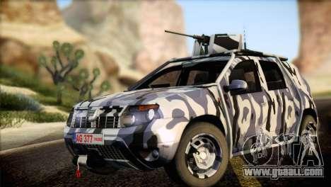 Dacia Duster Army Skin 3 for GTA San Andreas