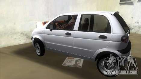 Daewoo Matiz for GTA Vice City left view