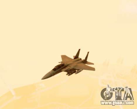 F-15E Strike Eagle for GTA San Andreas inner view