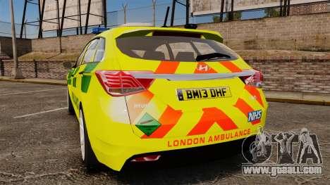 Hyundai i40 Tourer [ELS] London Ambulance for GTA 4 back left view