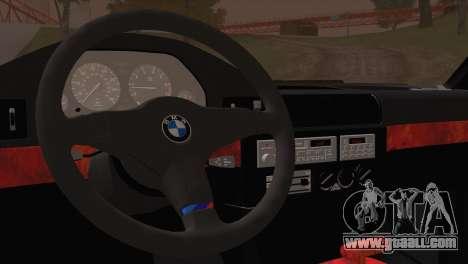 BMW 535i E34 Mafia Style for GTA San Andreas back view