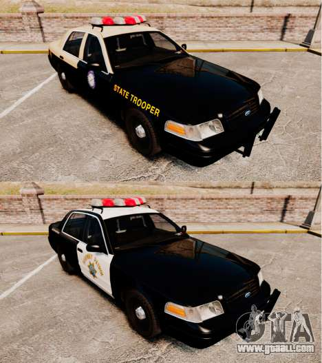 Ford Crown Victoria 1999 Florida Highway Patrol for GTA 4 inner view