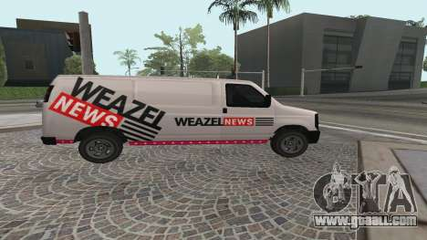 Newsvan Rumpo GTA 5 for GTA San Andreas left view