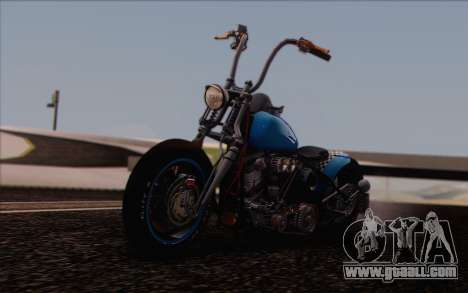 Harley-Davidson Knucklehead for GTA San Andreas back view