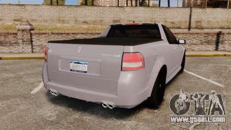 Pontiac G8 Sport Truck 2010 for GTA 4 back left view