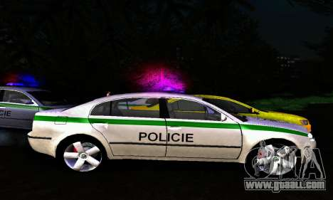 Skoda Superb POLICIE for GTA San Andreas left view