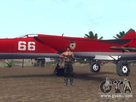 MiG 25 for GTA San Andreas inner view