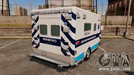 Ford E-350 Liberty Ambulance [ELS] for GTA 4 back left view
