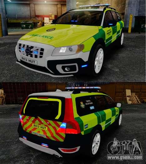 Volvo XC70 Paramedic [ELS] for GTA 4 inner view