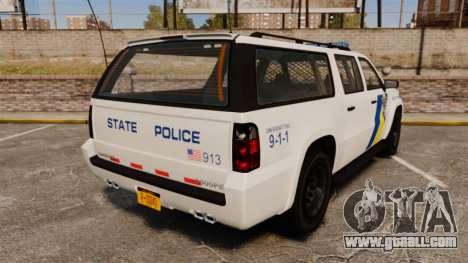 GTA V Declasse Police Ranger LCPD [ELS] for GTA 4 back left view