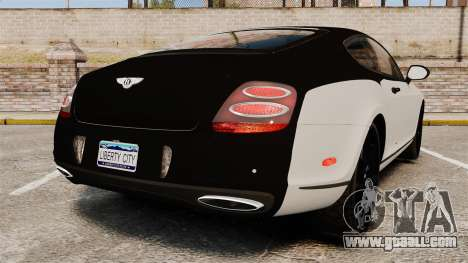 Bentley Continental SS v3.0 for GTA 4 back left view