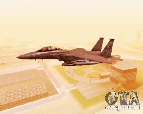F-15E Strike Eagle for GTA San Andreas side view