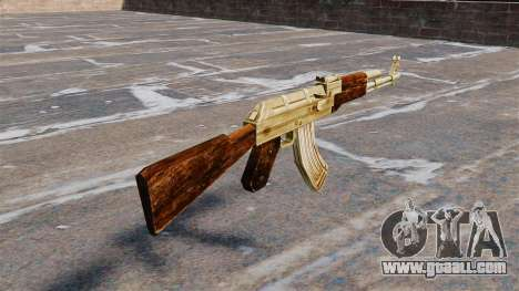 AK-47 gold plated for GTA 4 second screenshot