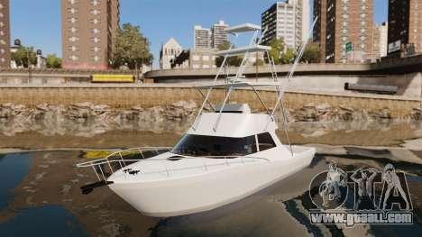 Sport fishing yacht for GTA 4