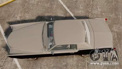 Cadillac Eldorado Coupe 1969 for GTA 4 right view