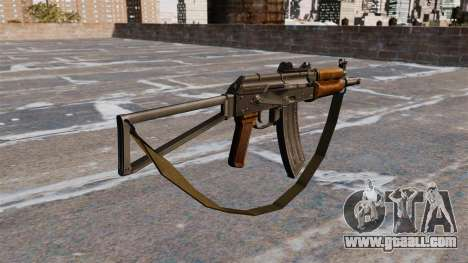 Automatic AKS74U with strap for GTA 4 second screenshot