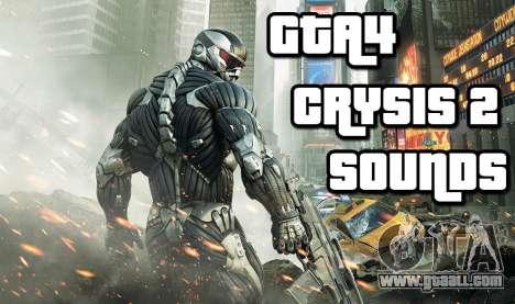 Crysis 2 Weapon Sound v 2.0 for GTA 4
