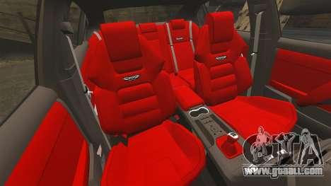 Holden HSV W427 2009 for GTA 4 inner view