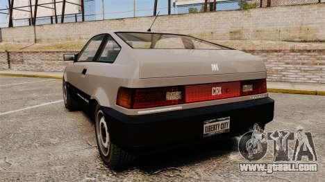 Blista CRX for GTA 4 back left view