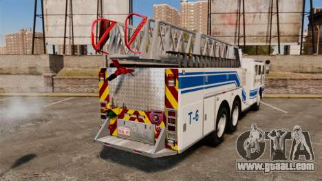 MTL Firetruck MDH1000 Midmount Ladder [ELS] for GTA 4 back left view