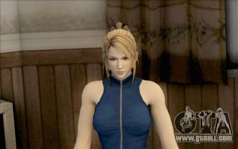 Sarah from Dead or Alive 5 for GTA San Andreas