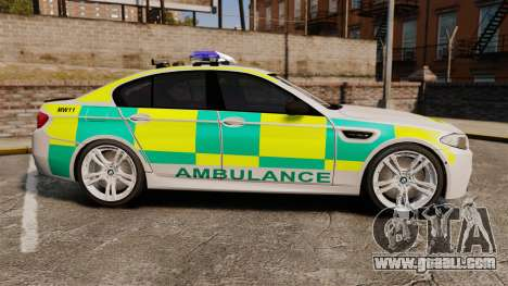 BMW M5 Ambulance [ELS] for GTA 4 left view