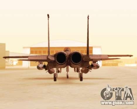 F-15E Strike Eagle for GTA San Andreas back view