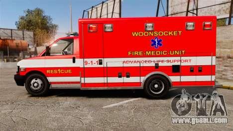 Brute Woonsocket Fire Medic Unit [ELS] for GTA 4 left view