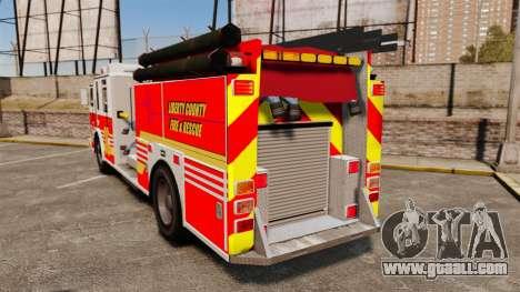 Firetruck LCFR [ELS] for GTA 4 back left view