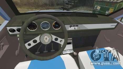 Renault 12 Toros v2.0 for GTA 4 back view