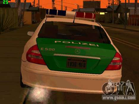 Mercedes-Benz  E500 Polizei for GTA San Andreas back left view