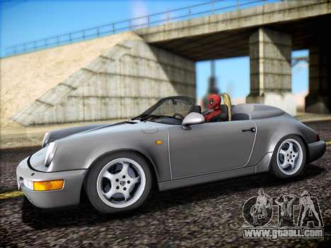 Porsche 911 Speedster Carrera 2 1992 for GTA San Andreas bottom view