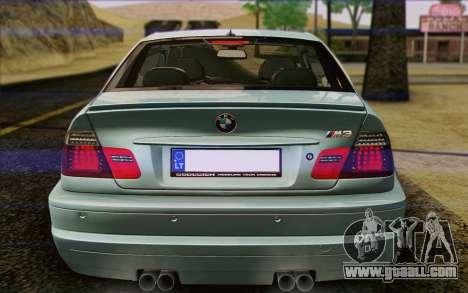 BMW M3 E46 2005 for GTA San Andreas engine
