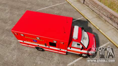 Brute Woonsocket Fire Medic Unit [ELS] for GTA 4 right view
