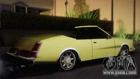 2-door cabriolet, Washington for GTA San Andreas left view