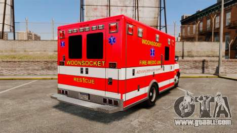 Brute Woonsocket Fire Medic Unit [ELS] for GTA 4 back left view