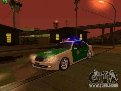 Mercedes-Benz  E500 Polizei for GTA San Andreas inner view